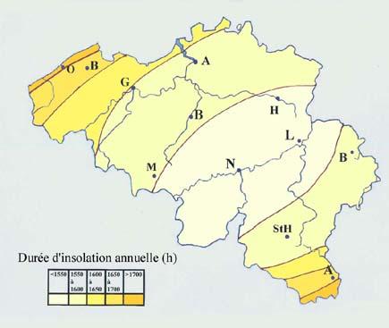 Météo en Belgique   Cartes du climat de la Belgique