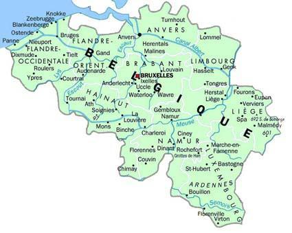 Carte Belgique Canaux.Meteo En Belgique Cartes Du Climat De La Belgique